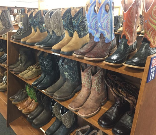 The new store offers a range of brand name Western and work boots.