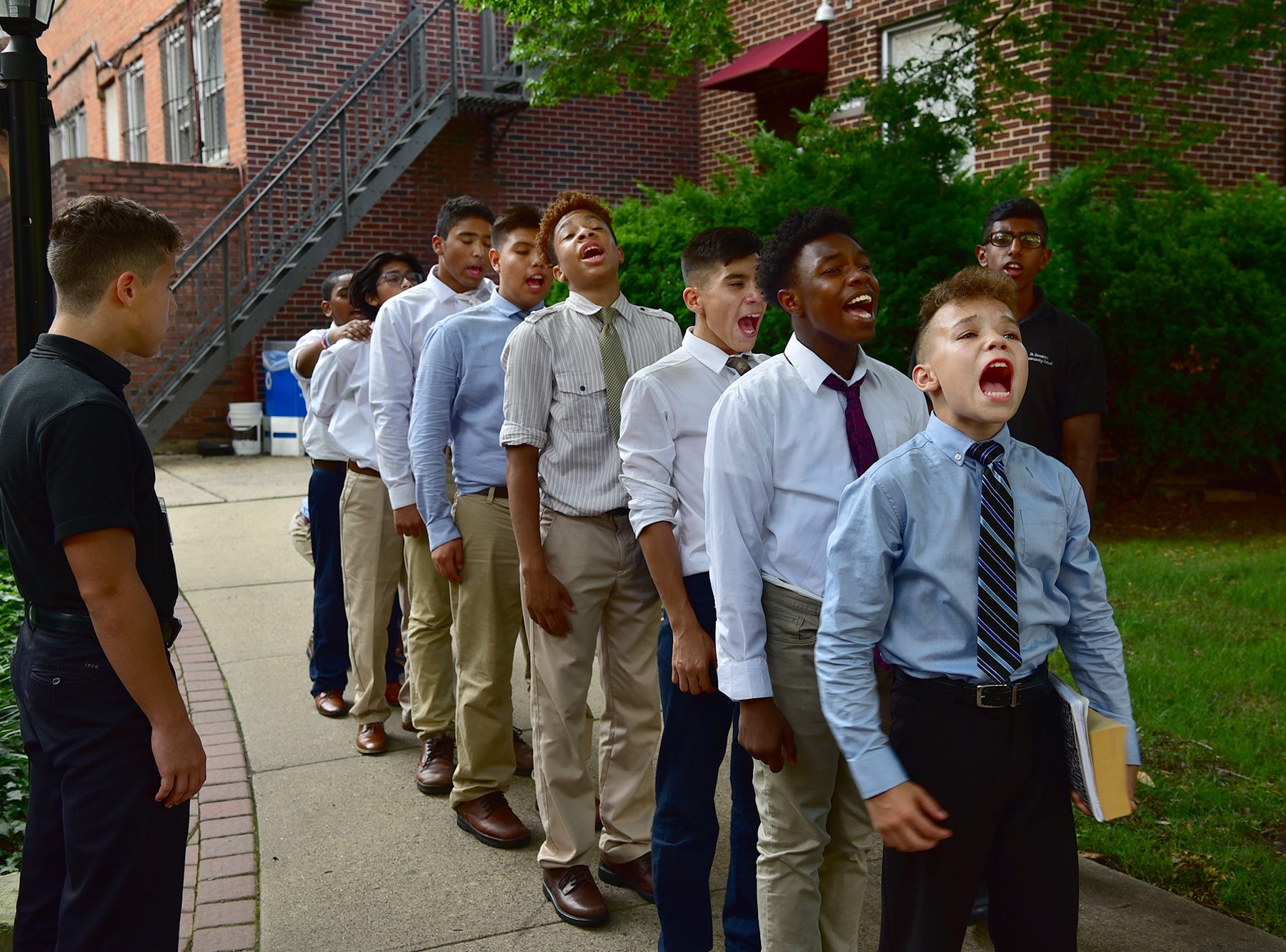 EDUCATION Naval Academy leadership program at St. Benedict's Prep School in Newark, NJ.