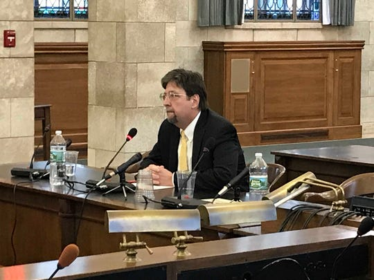 Charlie McKenna, former chief counsel for Gov. Chris Christie and CEO of the Schools Development Authority for most of Al Alvarez's time there as chief of staff, testifies in front of the legislative Select Oversight Committee on Dec. 18, 2018.