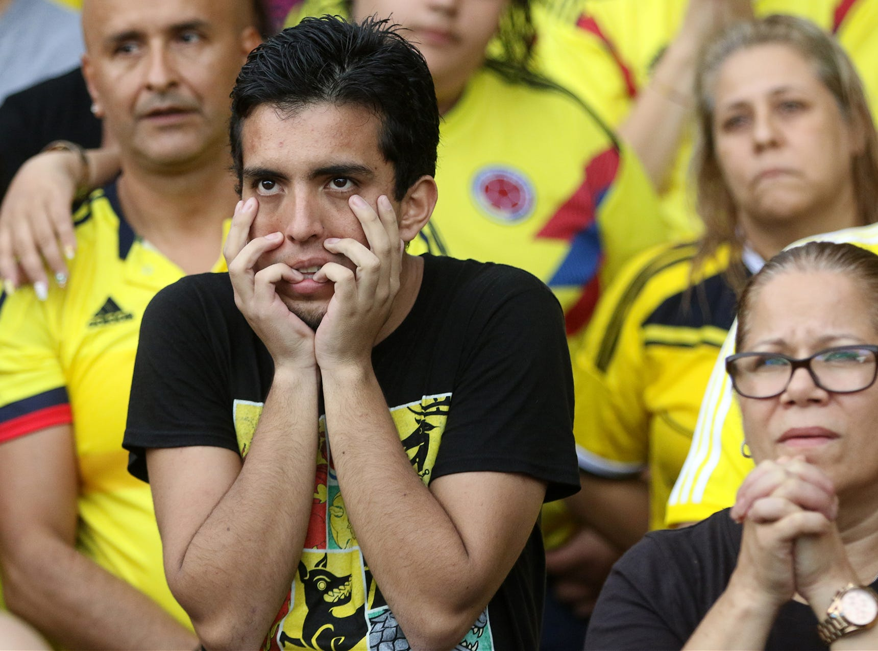 Colombia soccer fans had trouble watching the World Cup game vs England during the second half. Tuesday, July 3, 2018