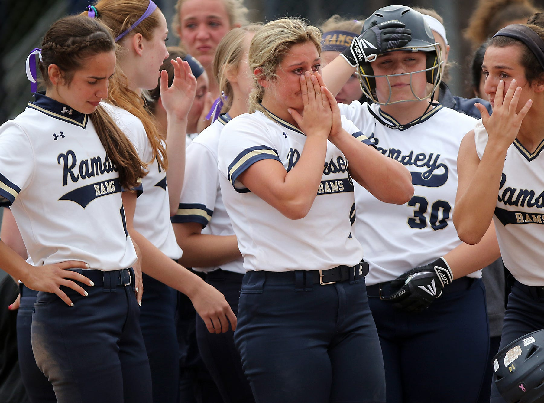 Ramsey tries to soak up the loss as ImmaculateConception won the state championship game, Sunday, June 1, 2018.