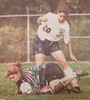DeAnna Stark during her playing days for Morris Catholic girls soccer.
