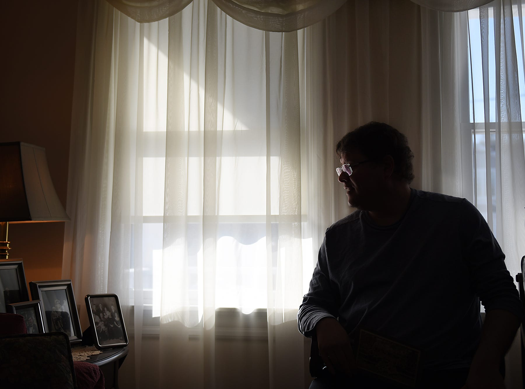 Paul Stefanowicz is taking over as Tenafly Town Historian after Alice Rigney's retirement. Stefanowicz is shown in his home on Thursday January 18, 2018.