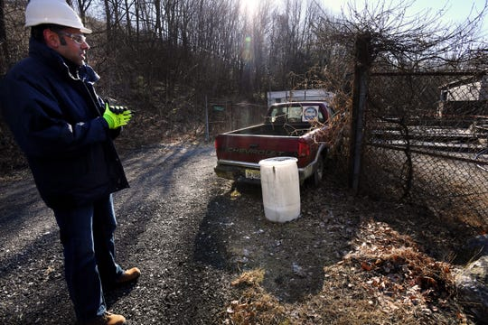SUEZ, a provider of water and wastewater services in New Jersey, is taking over the services of the West Milford Municipal Utilities Authority. Jas Kaller, Director of Highlands Operations, at a facility at 1260 Macopin Road on Tuesday, December 18, 2018. A vehicle and a chemical drum were left by the previous operator.