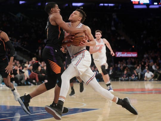 New York Knicks rookie forward Kevin Knox is averaging 19.7 points in his last six games.