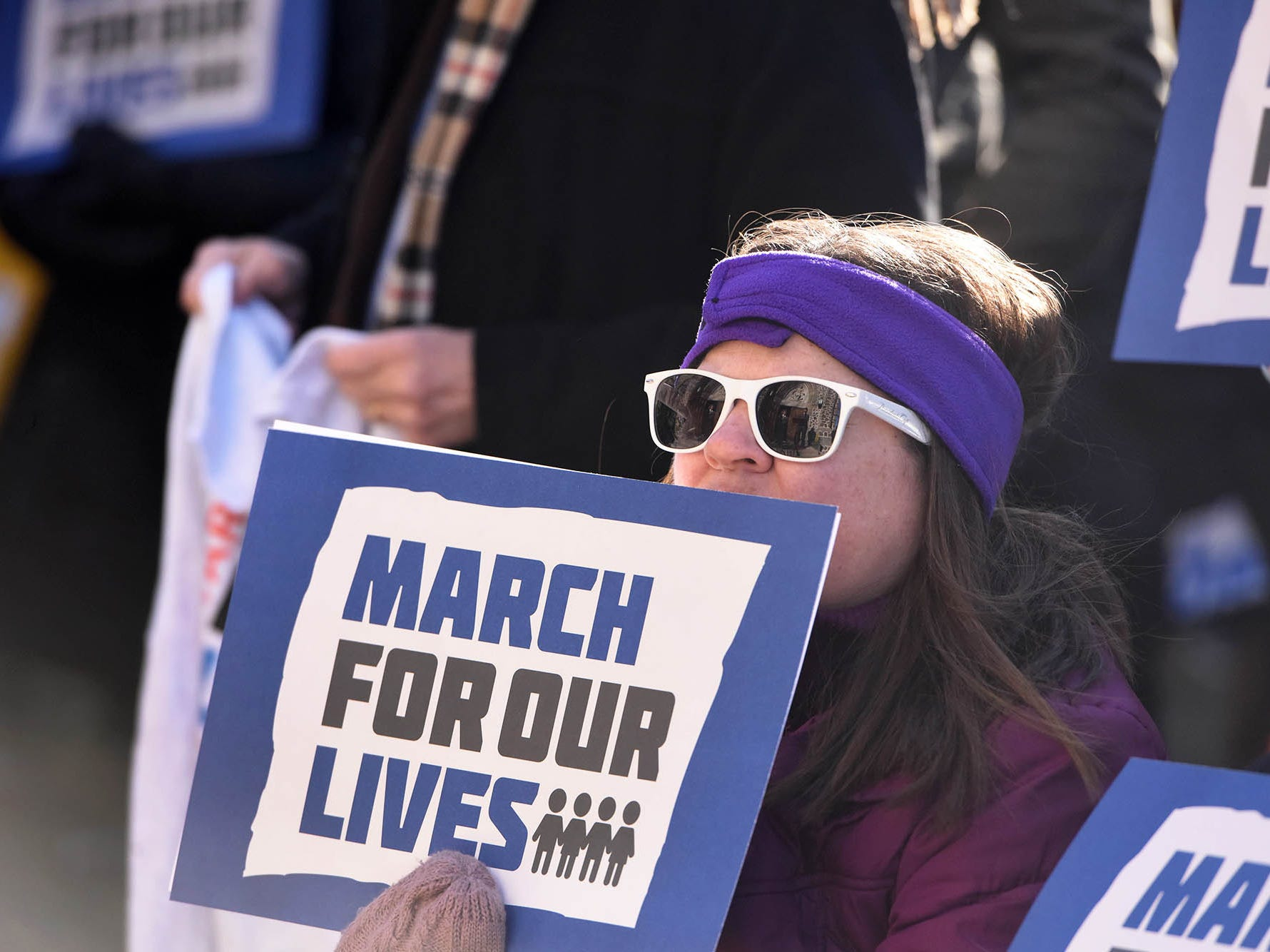 """20031857A.3.24.2018.Montclair.March for our Lives rallies:Participants in """"March for our Lives"""" rally iat St. James Episcopal Church in Montclair."""