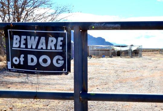 The front gate of Ruff Ruff Animal Sanctuary is padlocked and there are no animals on the property.