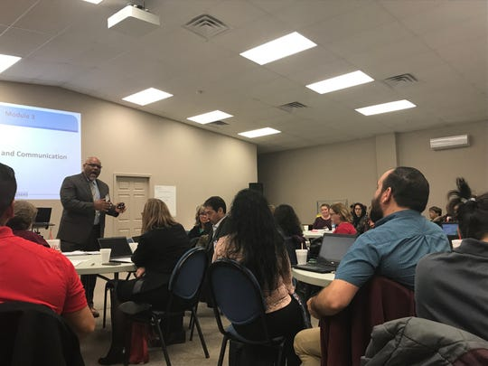 Open discussions were carried out during the School Behavioral Threat Assessments training for school administrators last week.