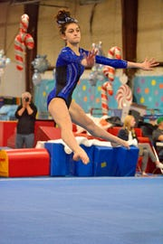 Sophomore returnee Allie Schultz provides much-needed depth and experience for the Farmington gymnastics team.