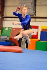 Farmington United senior tri-captain Kacey Noseworthy was the Division II all-around winner in the Jeanne Caruss Memorial Invitational at White Lake Lakeland.