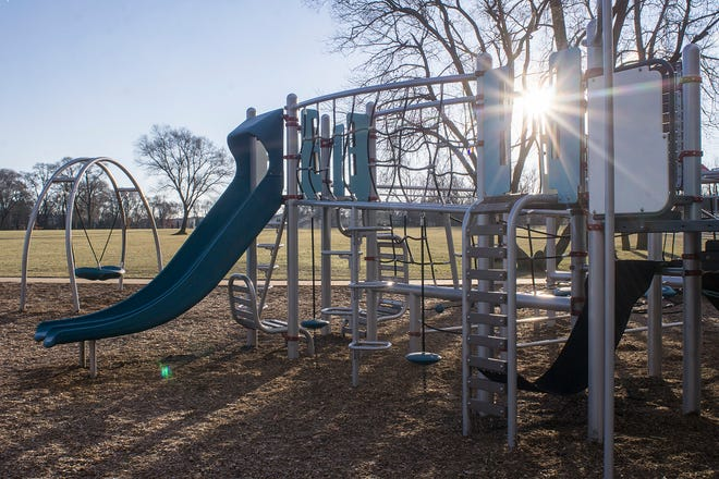 Climb, swing, slide, jump, and more at the new Pavilion Shore Park playground.