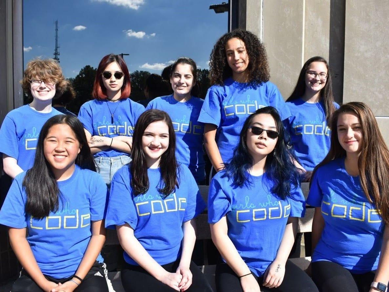 Members of Girls Who Code.