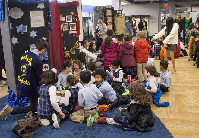Second graders learn about holiday traditions of different religions and culture.