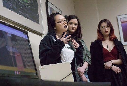 Stevenson students Sophia Nguyen, Noelle Robert, and Alison Nguyen.