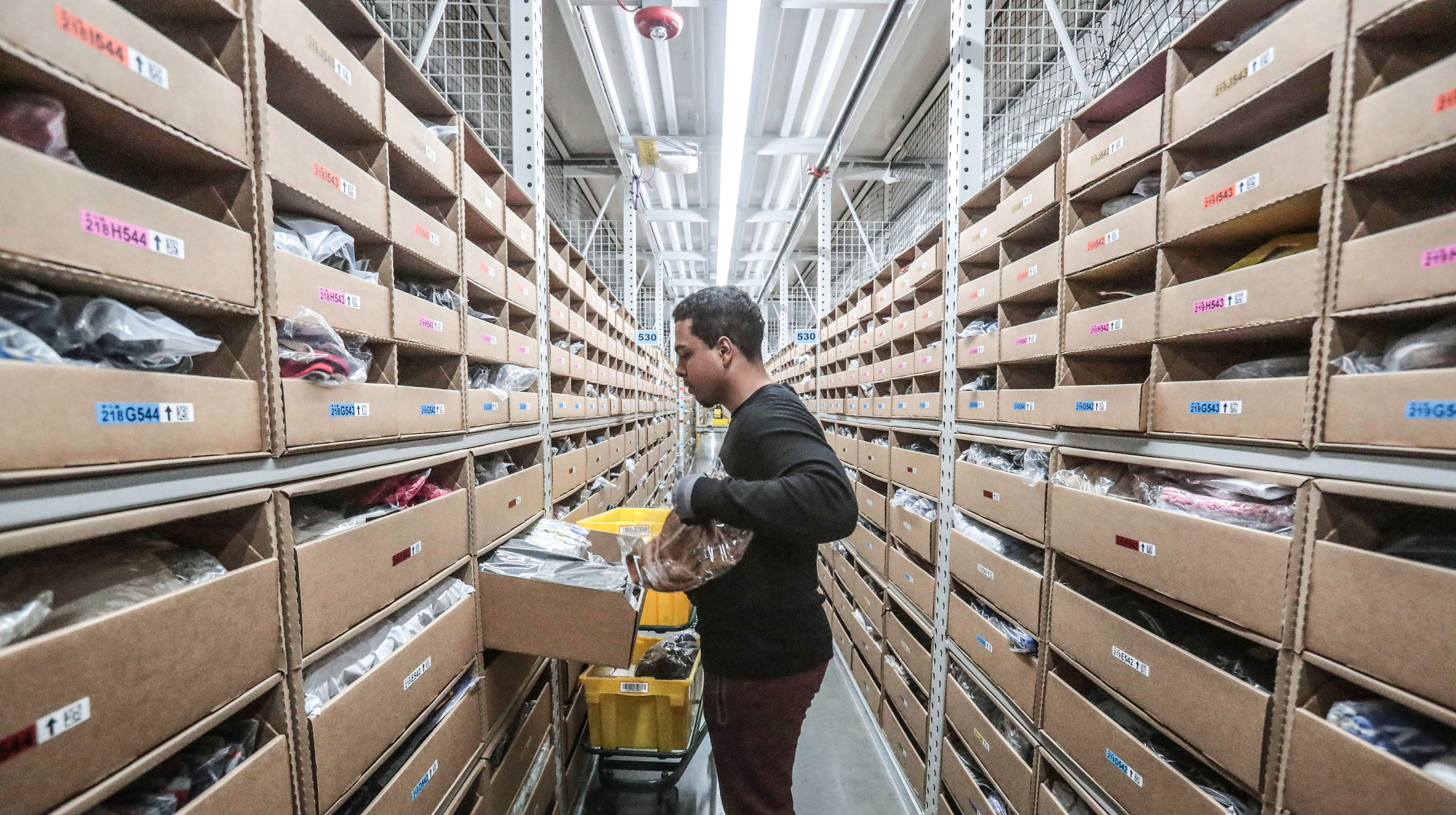 Inside an Amazon warehouse in the final days before Christmas