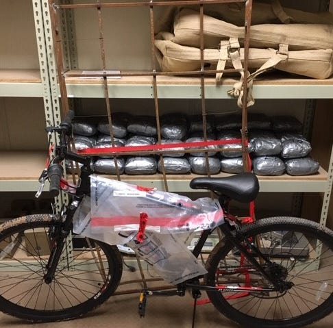 $1.4 million of meth, and a bicycle, dropped from ultralight aircraft in Calexico