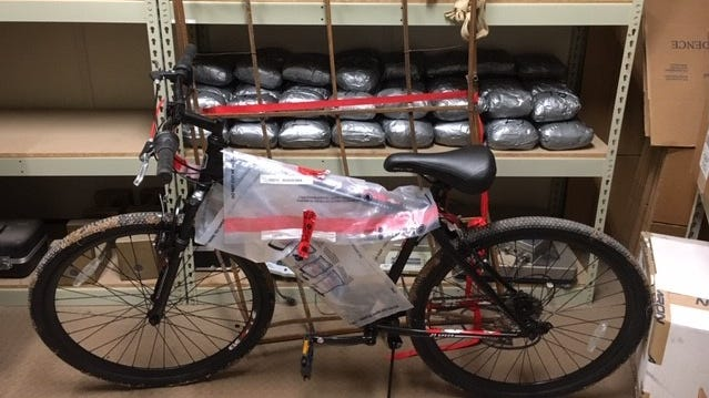 Border Patrol agents seized almost 130 pounds of methamphetamine along with other items in Calexico, California, after tracking an ultralight aircraft Dec. 16, 2018, that was crossing the U.S.-Mexico border.