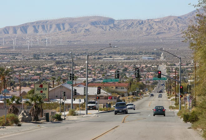 Hacienda Avenue in Desert Hot Springs.