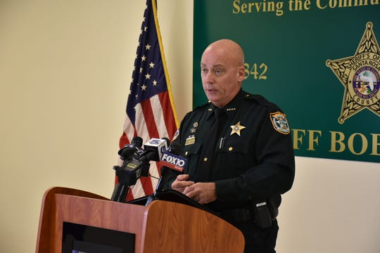 Santa Rosa County Sheriff Bob Johnson speaks at a press conference Monday, Dec. 17, 2018, about a body found at a property in Jay that authorities believe is missing woman Felecia Kuswandy.