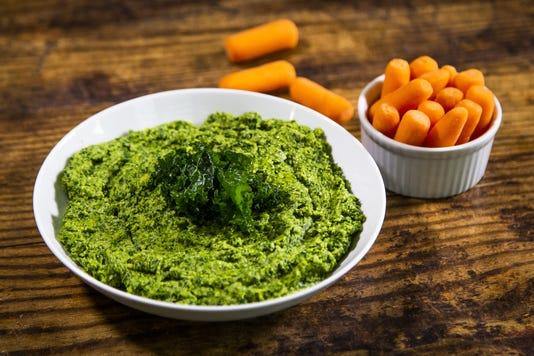 Robin Miller, massaged kale hummus