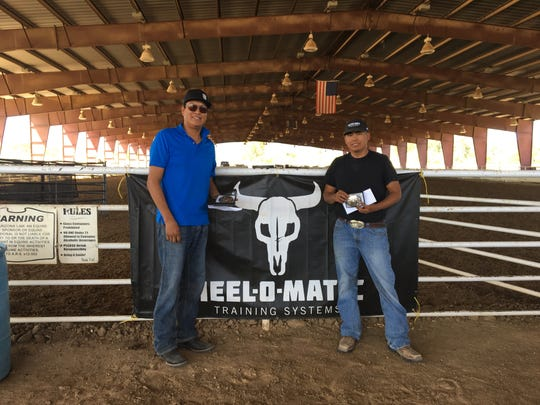 Team roping duo Wilton Wilson (left) and Dwight Dixon (right) said competing in rodeo brings joy and takes horsemanship.