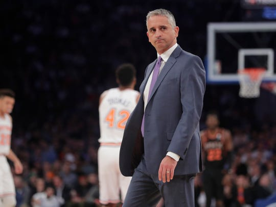 Suns coach Igor Kokoskov looks on during the first half of a game against the Knicks on Dec. 17 at Madison Square Garden.
