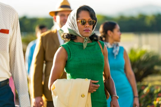 "In ""If Beale Street Could Talk,"" Sharon (Regina King) is particularly strong willed."