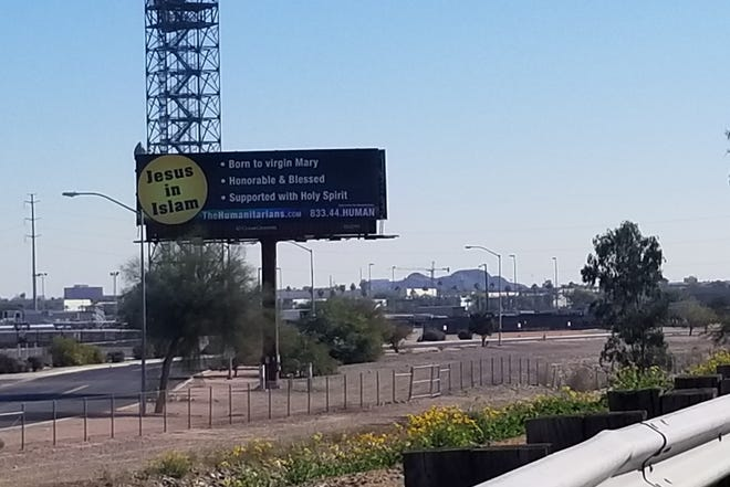 A Muslim interfaith group has taken out two billboards along Interstate 10 that explain who Jesus is in Islam.