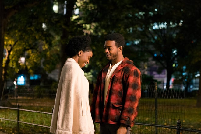 """Tish (KiKi Layne) and Fonny (Stephan James) are a couple in """"If Beale Street Could Talk."""""""