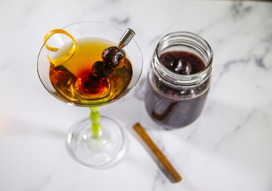 Renowned chef Robin Miller created this bourbon-soaked cherries cocktail.