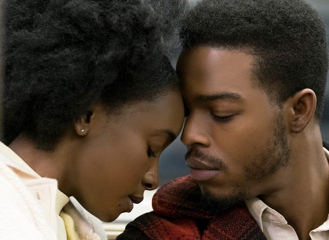 """Life is about to change for Tish (KiKi Layne) and Fonny (Stephan James) in """"If Beale Street Could Talk."""""""
