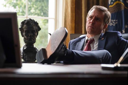 "Sam Rockwell plays President George W. Bush in ""Vice."""