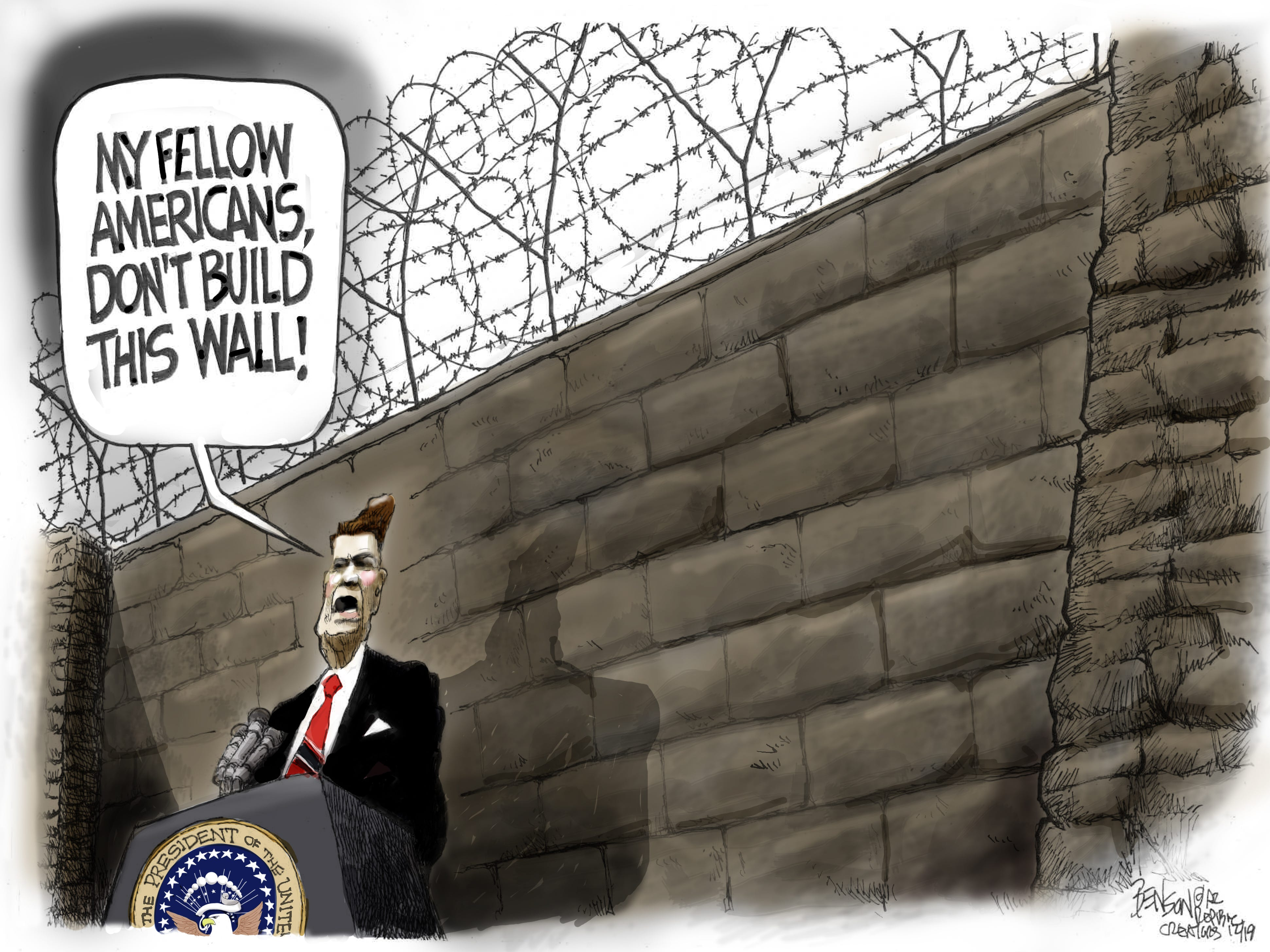 Cartoon for Dec. 18, 2018.