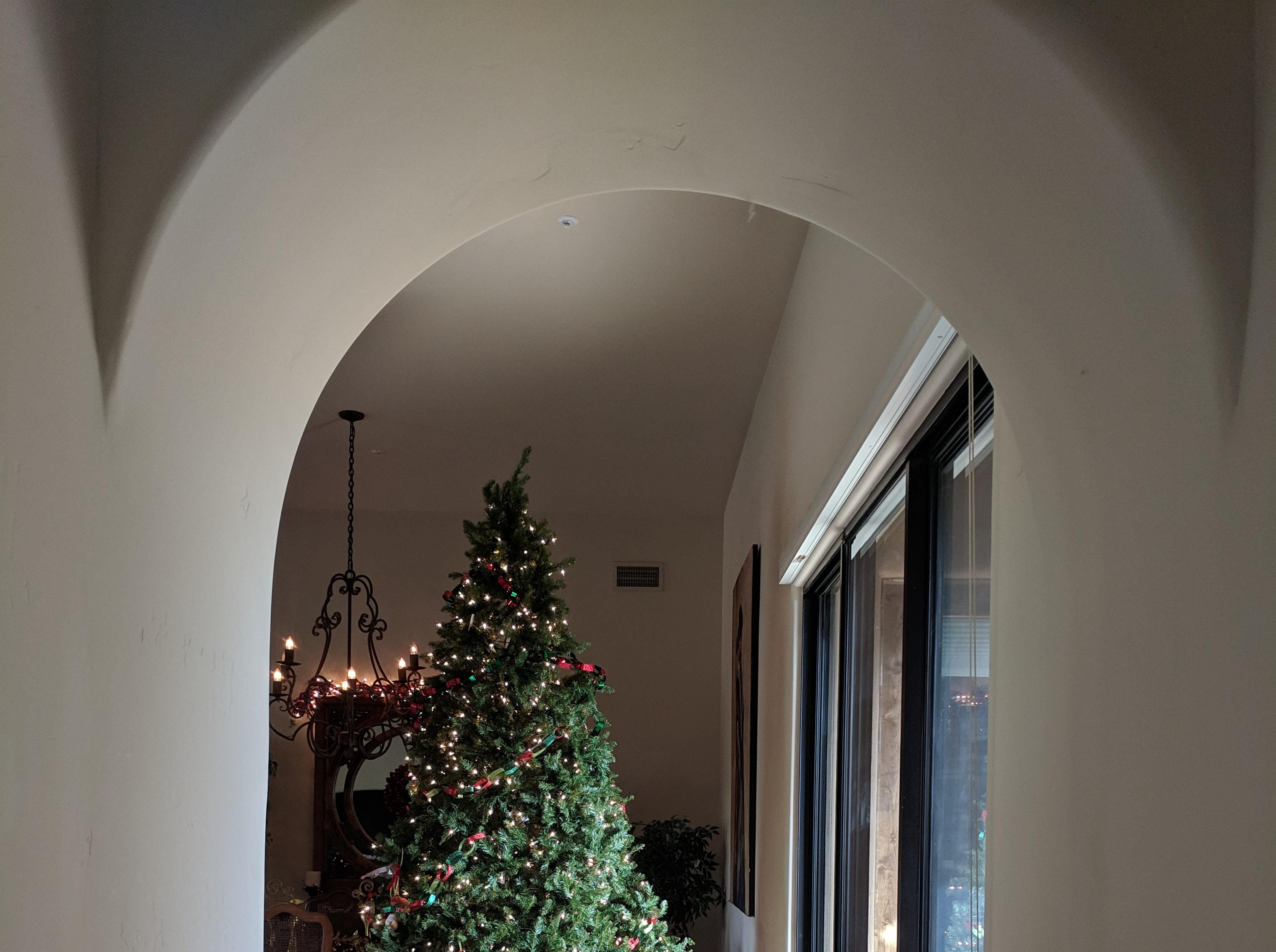 The Reaveses' home features a number of recessed ceiling and arched hallways, leading to its Santa Fe feel.
