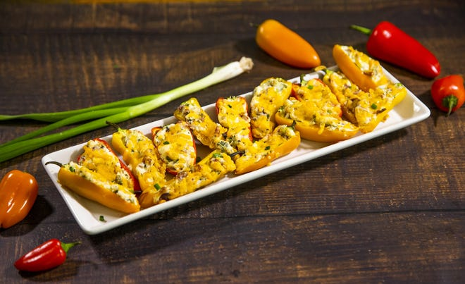 Renowned chef Robin Miller created these bacon and cheddar mini peppers.
