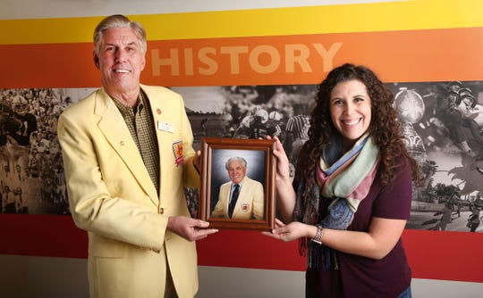 Dr. Jackson Drake (photo) was the first of his family to begin volunteering with the Fiesta Bowl, and that tradition is continued by his son Rob Drake and his granddaughter Alexandria Drake.