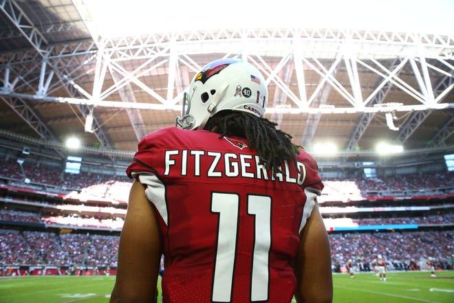 Arizona Cardinals receiver Larry Fitzgerald.