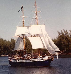 The Pinafore was built by George Gruber in Port Sanilac in the 1970s. His son is trying to find the boat.