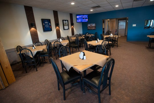 The dining room at The Fieldhouse Sports Bar & Kitchen.