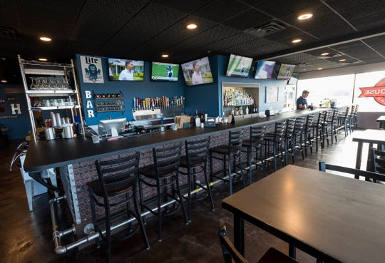 The bar at The Fieldhouse Sports Bar & Kitchen in Marysville.