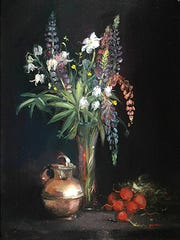 """Lupine and Silver"" by Keith Gunderson is part of the exhibit at the Beacon Fine Art Gallery."