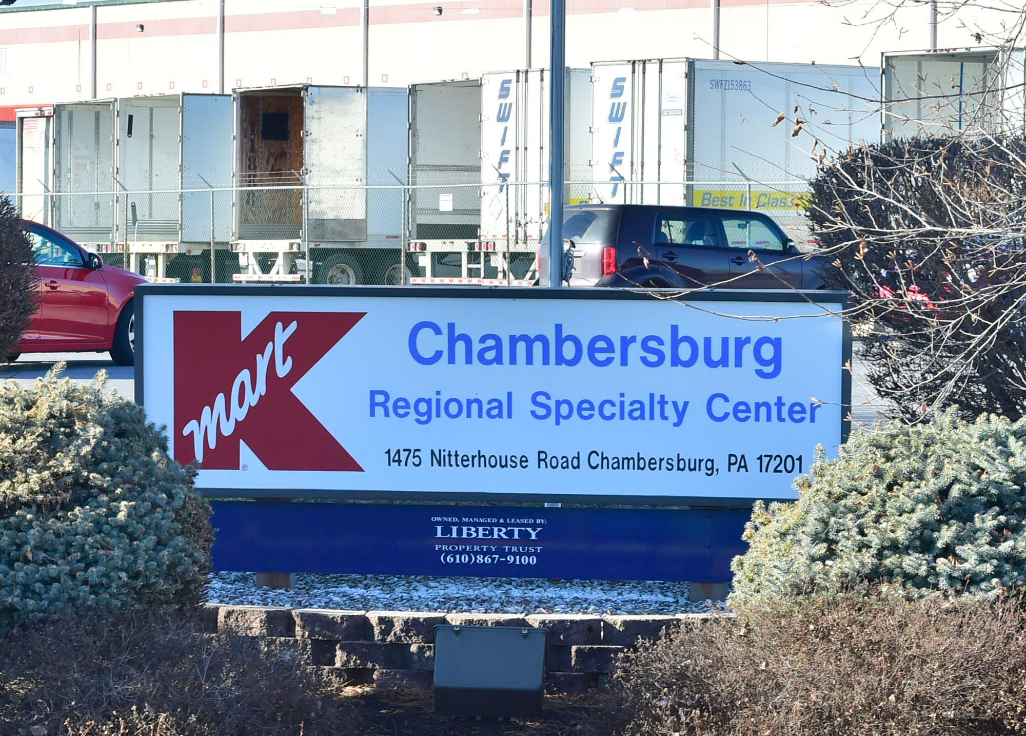 Kmart is closing the local distribution center at 1475 Nitterhouse Drive, Chambersburg. Sears Holdings is under bankruptcy protection and is trying to sell its Sears and Kmart stores as a going operation.
