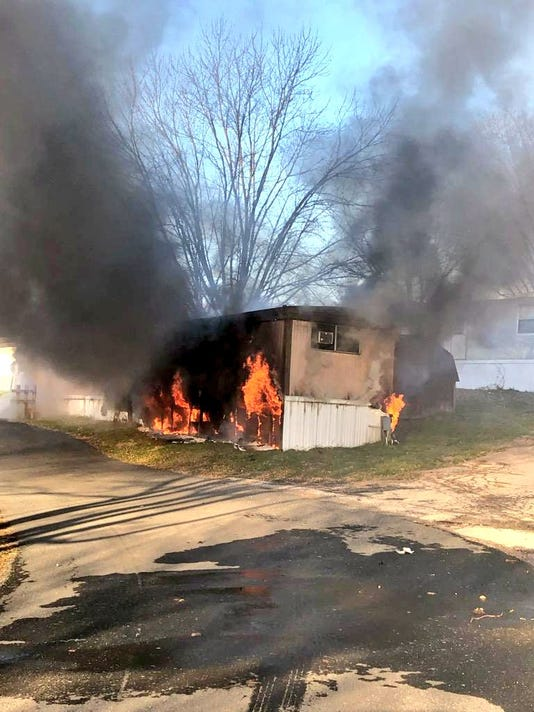 Mobile home fire in Conewago Twp.