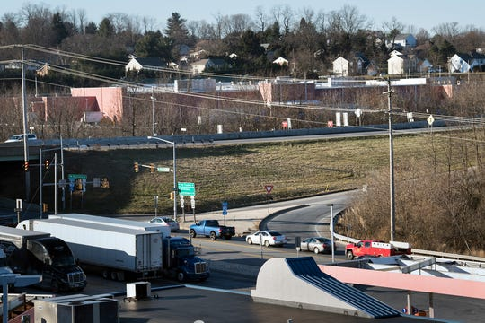 This view looks across the soon-to-be-renovated Interstate 83 Shrewsbury interchange from Shrewsbury Township into Shrewsbury borough.