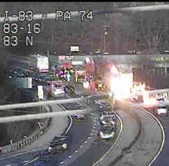 I-83 North reopens after crash near Queen Street exit, 511PA.com says