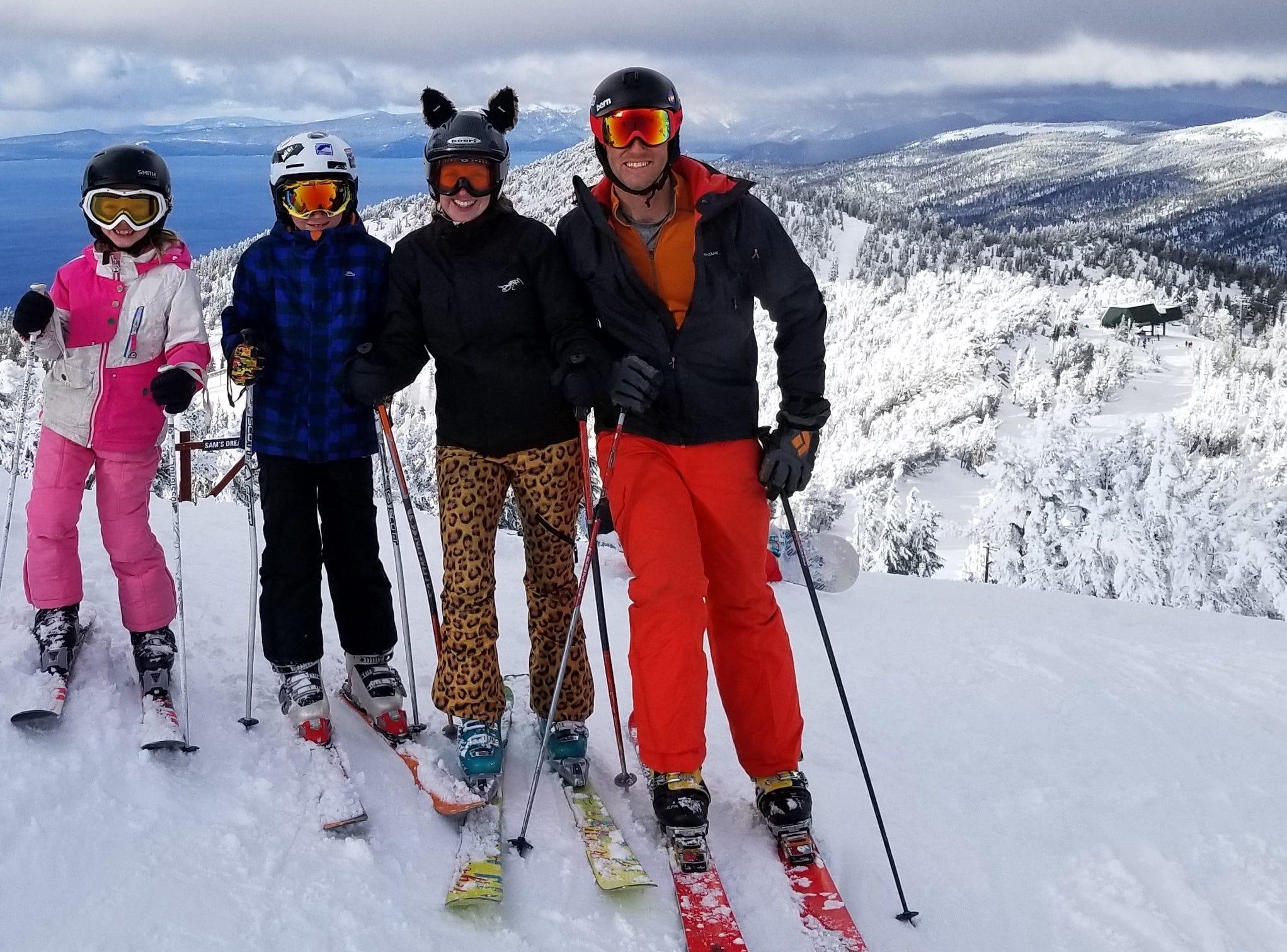 Skiing, glorious skiing: Tahoe Dad