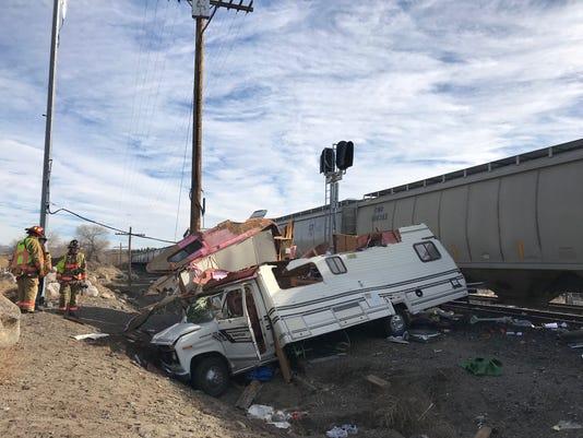 Train versus RV in Reno