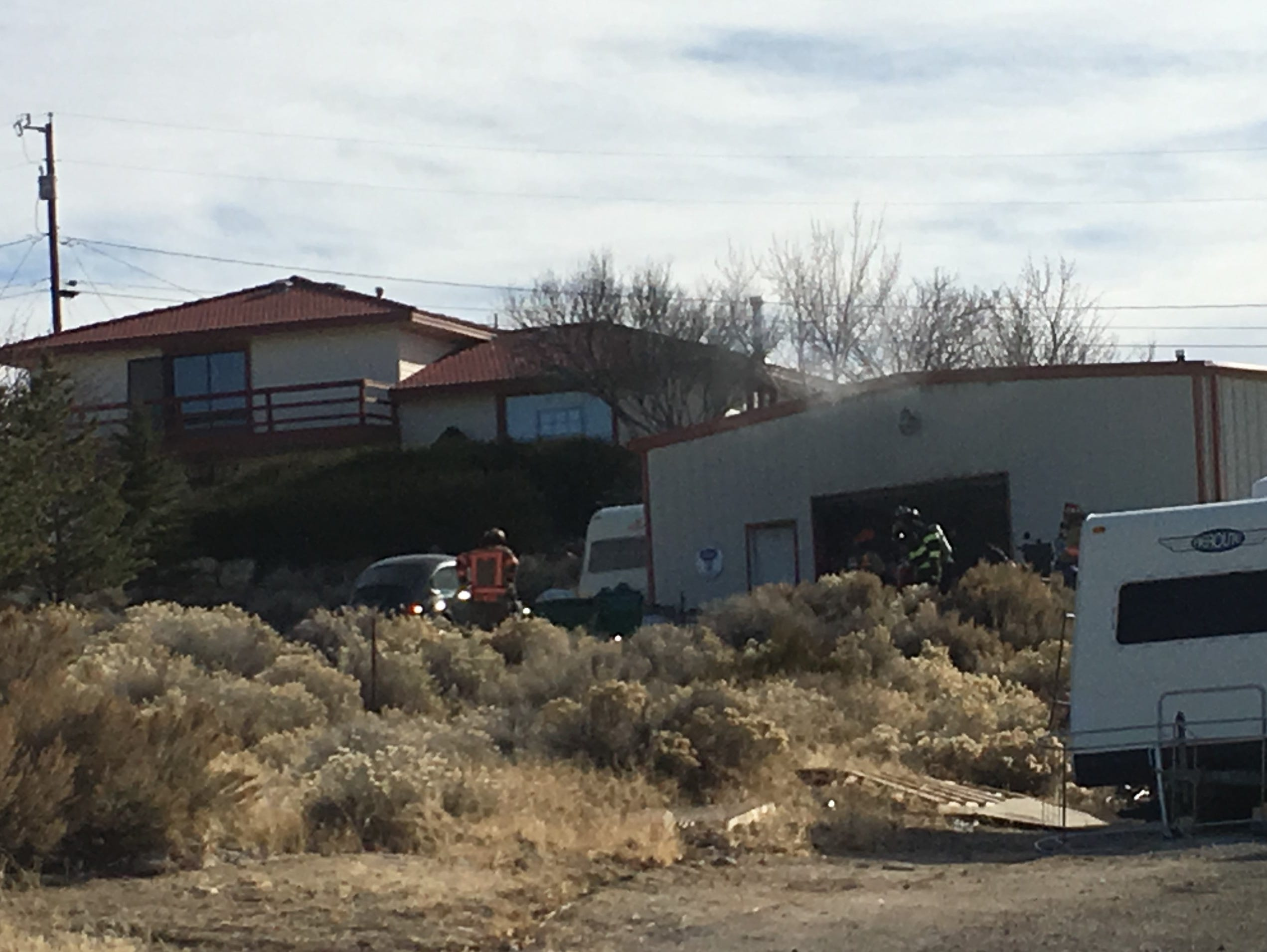 Building burns Monday in Reno's north valleys