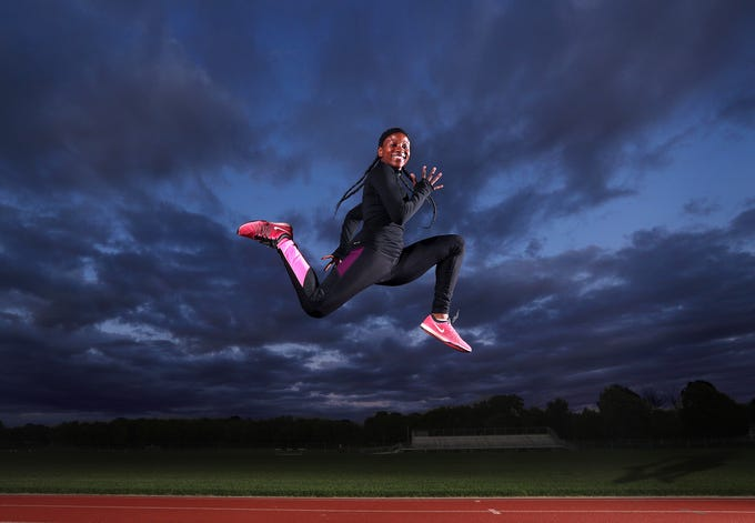 Rush-Henrietta track star Lanae-Tava Thomas is the Democrat and Chronicle All-Greater Rochester girl's track and field Athlete of the Year. 