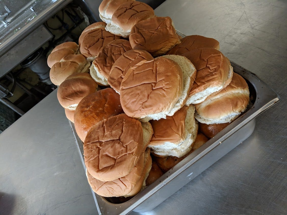 Buns for sandwiches at A Meal and More.
